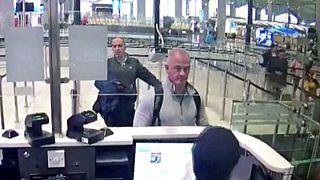 Nissan patronu Carlos Ghosn'nun İstanbul üzerinden Lübnan'a kaçmasına yardım ettiği iddia edilen Michael Taylor, 30 Aralık 2019, İstanbul Havalimanı