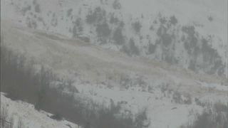 Die Lawine verschonte den Skiort Les Diablerets, vernichtete aber große Waldgebiete