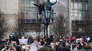 Несанкционированный митинг 23 января в Москве.