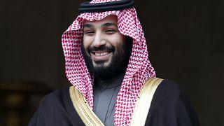 Il principe ereditario saudita Mohammad Bin Salman ricevuto nel 2018 a Parigi. L'Arabia Saudita è stato il più grande importatore di armi al mondo (2015-19)
