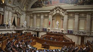 A previous session of the Portuguese parliament in Lisbon, May 7, 2020.