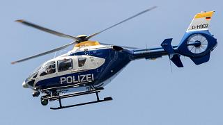 File photo of a police helicopter in Germany