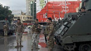 انتشار مكثف لقوات الجيش في مدينة طرابلش شمال لبنان