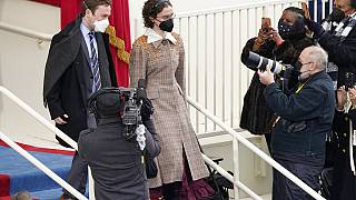 Cole und Ella Emhoff bei der Amtseinführung von Kamala Harris und Joe Biden