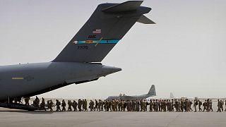 خروج نظامیان آمریکایی از افغانستان