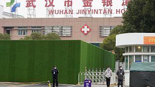 مستشفى ووهان جينينتان الذي زاره فريق منظمة الصحة العالمية في ووهان بمقاطعة هوبي بوسط الصين