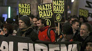 Náciellenes tüntetés Bécsben 2020 januárjában (illusztráció)