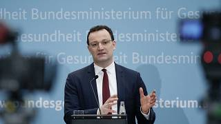 Jens Spahn, Federal Minister of Health, takes part in a press conference in Berlin, January 20, 2021.