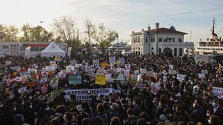 Boğaziçi Üniversitesi öğrencileri, Melih Bulu'nun rektör olarak atanmasını protesto etmişti