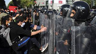 Tunisian Youth Took to the Streets of Tunis in Protest of the Police
