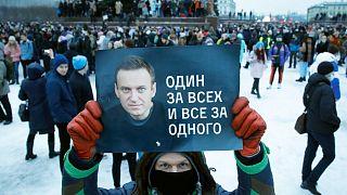 تظاهرات حامیان ناوالنی در روسیه