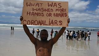 COVID-19 Pandemic Lockdown Protests on Cape Town's Beaches