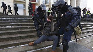 Festnahme in Sankt Petersburg