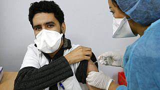 Impfung von medizinischem Personal in Casablanca in Marokko