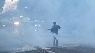 عکس آرشیوی از درگیری هوداران مارسی با پلیس