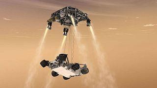فرود شبیهسازی شده مریخنورد ناسا بر سطح مریخ