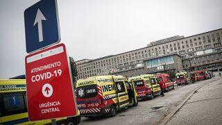 Urgências do Hospital de Santa Maria em Portugal