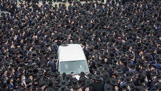 Riesenbegräbnis in Jerusalem