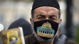 Διαμαρτυρία Παλαιστινίων για τα μέτρα προστασίας κατά του κορονοϊού