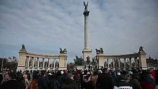 Manifestazione a Budapest