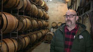Giles Jenkinson, de la cervecería Wild Beer CO, durante su entrevista con Euronews
