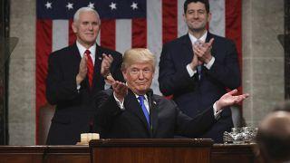 دونالد ترامب خلال خطاب الأمة في 2018 (أرشيف)