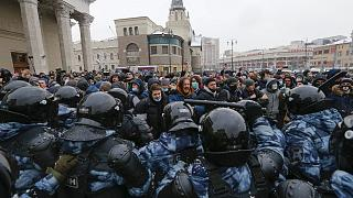 Le proteste a sostegno di Navalny a Mosca