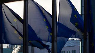 تصاویری از داخل ساختمان کمیسیون اروپا از پرچم اتحادیه اروپا