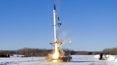 The launch by by bluShift Aerospace was the first rocket launch in Maine's history.