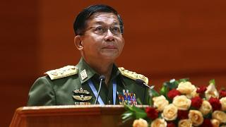 Myanmar's Army Commander-in-Chief Senior Gen. Min Aung Hlaing
