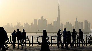 Dubai an einem Freitagabend im Januar 2021