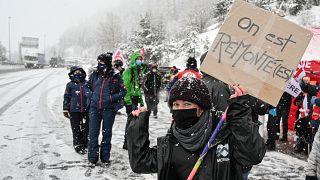 Σαβοΐα: Διαμαρτυρία στο χιόνι