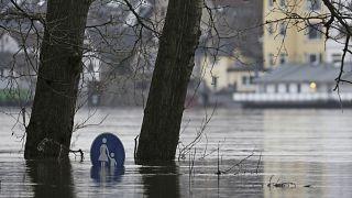 Hochwasser in Köln.