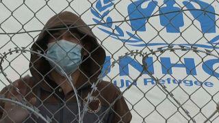 Migrants at Pournara Camp, Cyprus