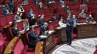 Le ministre de l'Intérieur Gérald Darmanin devant les députés français, 1er février 2021
