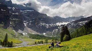 İsviçre'de doğa manzarası