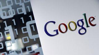 شعار شركة غوغل في المقر المركزي