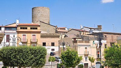 Panoramic view of Biccari