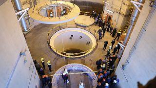 صورة من قلب مفاعل أراك للماء الثقيل (إيران - أرشيف)