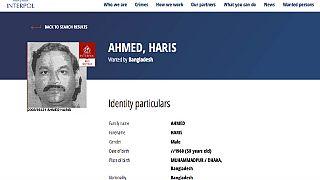 Haris Ahmed nemzetközi körözési adatai