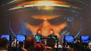 Una sessione di gioco Starcraft alla Game Convention di Lipsia il 23 agosto 2007