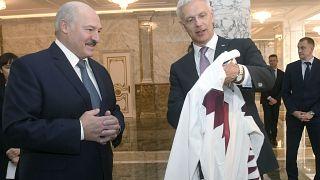 Кришьянис Кариньш и Александр Лукашенко в Минске, январь 2020 г.