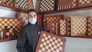 David Ferrer, proud owner of the company manufacturing The Queen's Gambit chess boards
