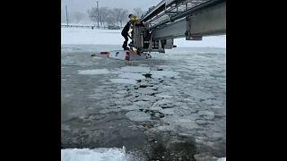 Vízi mentés Stamfordban