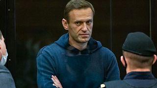 Alexeï Navalny, au palais de justice de Moscou, le 2 février 2021