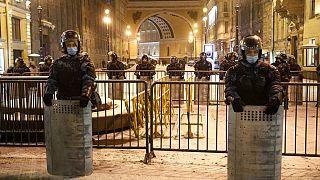 Sicherheitskräfte in St. Petersburg