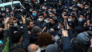 Kadıköy'de rektör protestosu