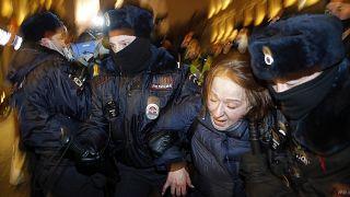 Сцена задержания в Москве