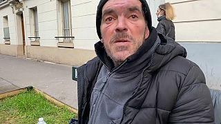 Gilles Beulens, SDF, Paris, février 2021