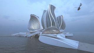 Este diseño llamado el 8º continente ha ganado el premio del Gran Premio 2020 de arquitectura e innovación del mar.